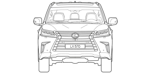 LX Front Dimensions