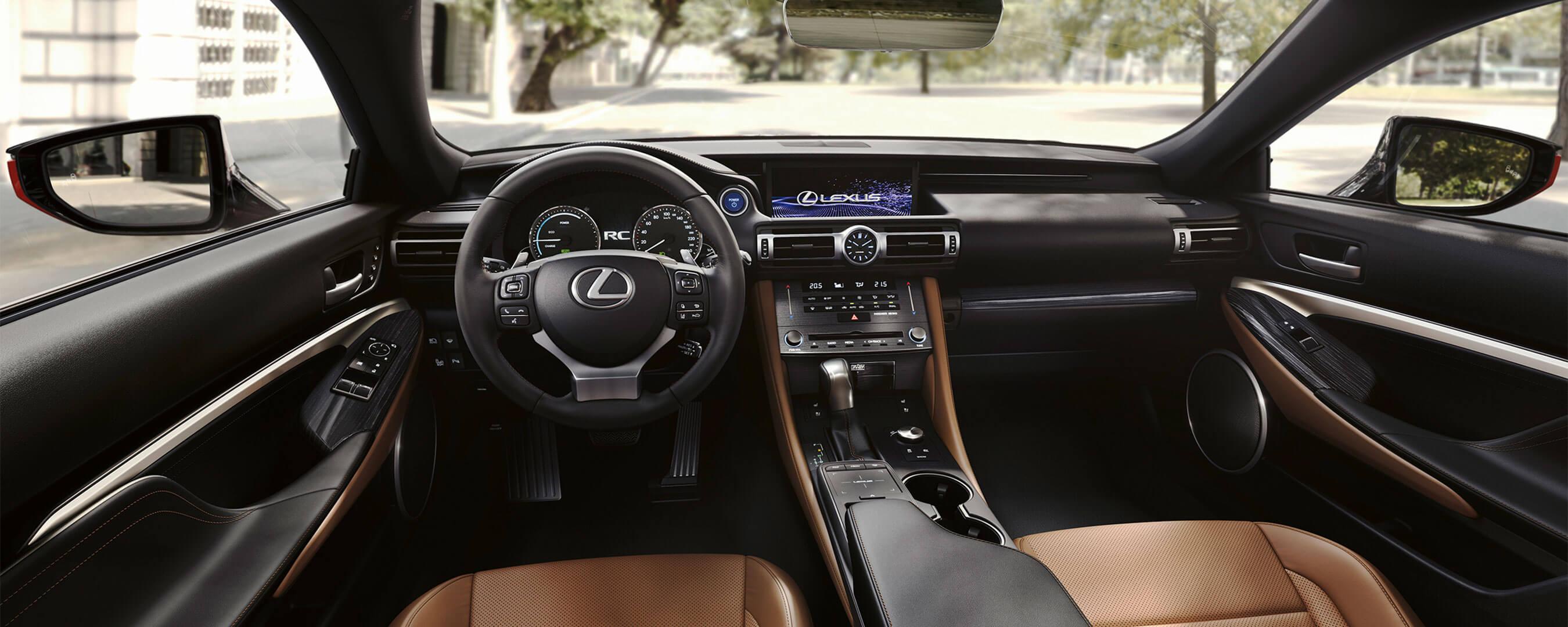 2018 lexus rc experience interior front