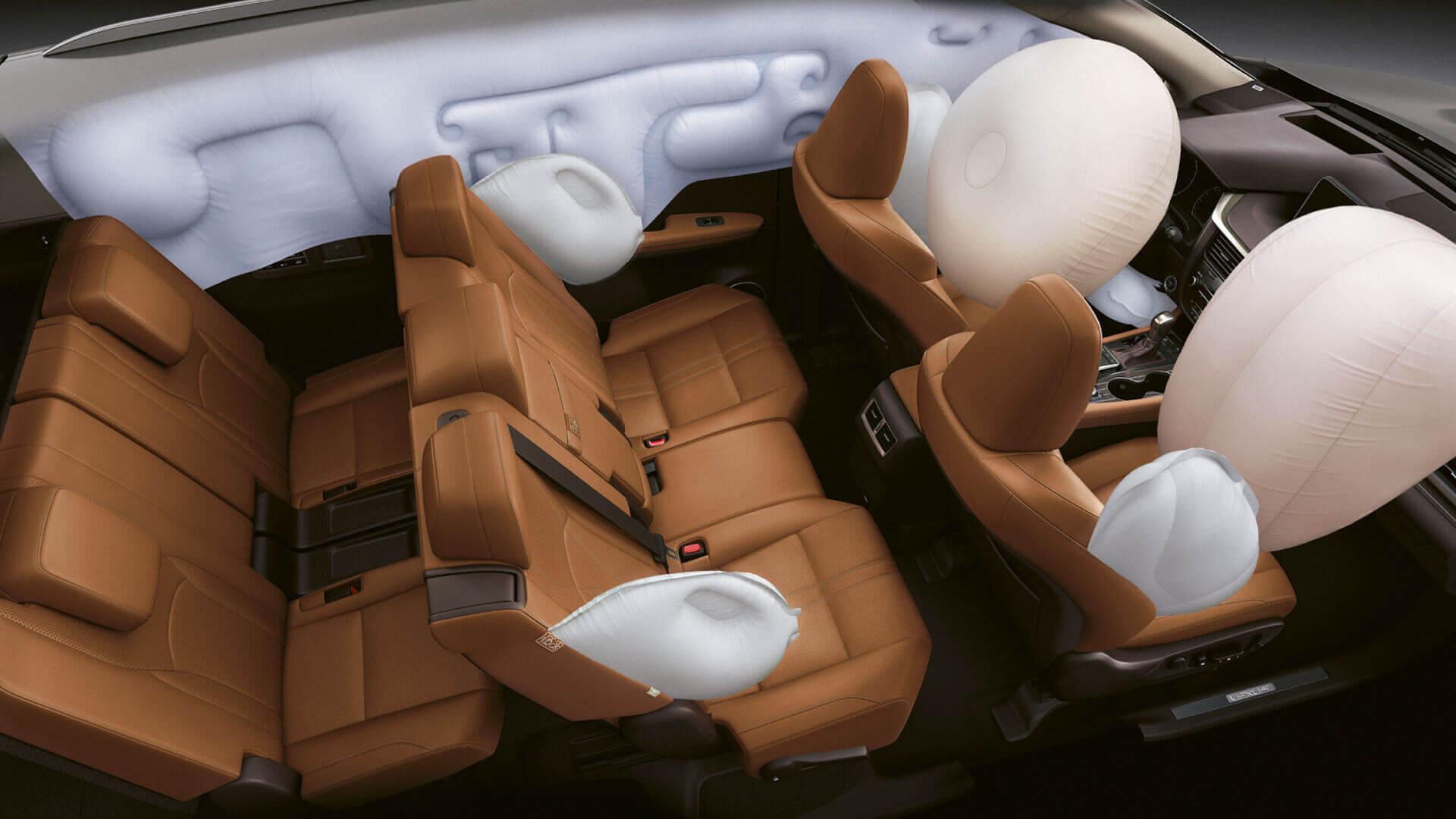 2019 lexus rxl hotspot third row airbags