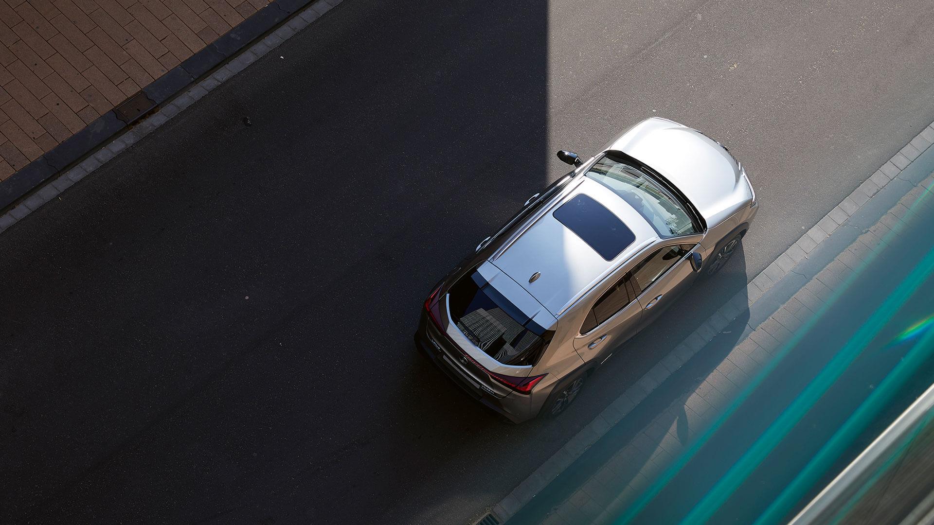 Lexus UX Vogelperspektive