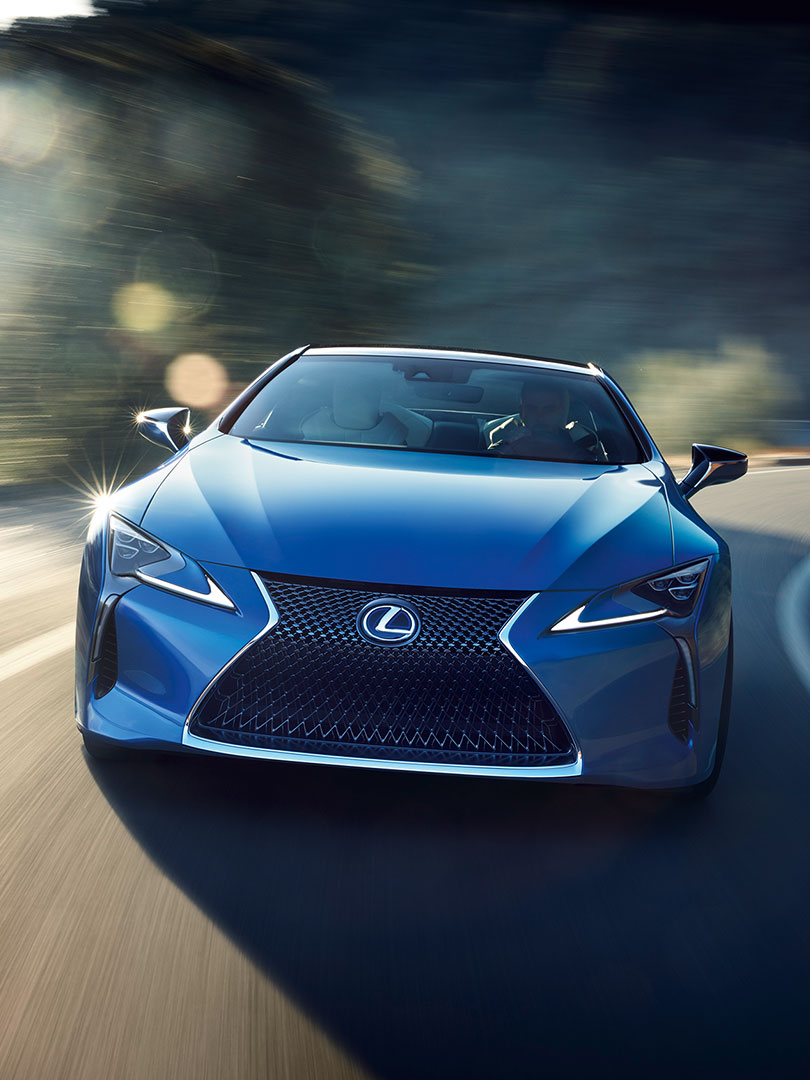 2018 lexus lc blue inspired by luminance