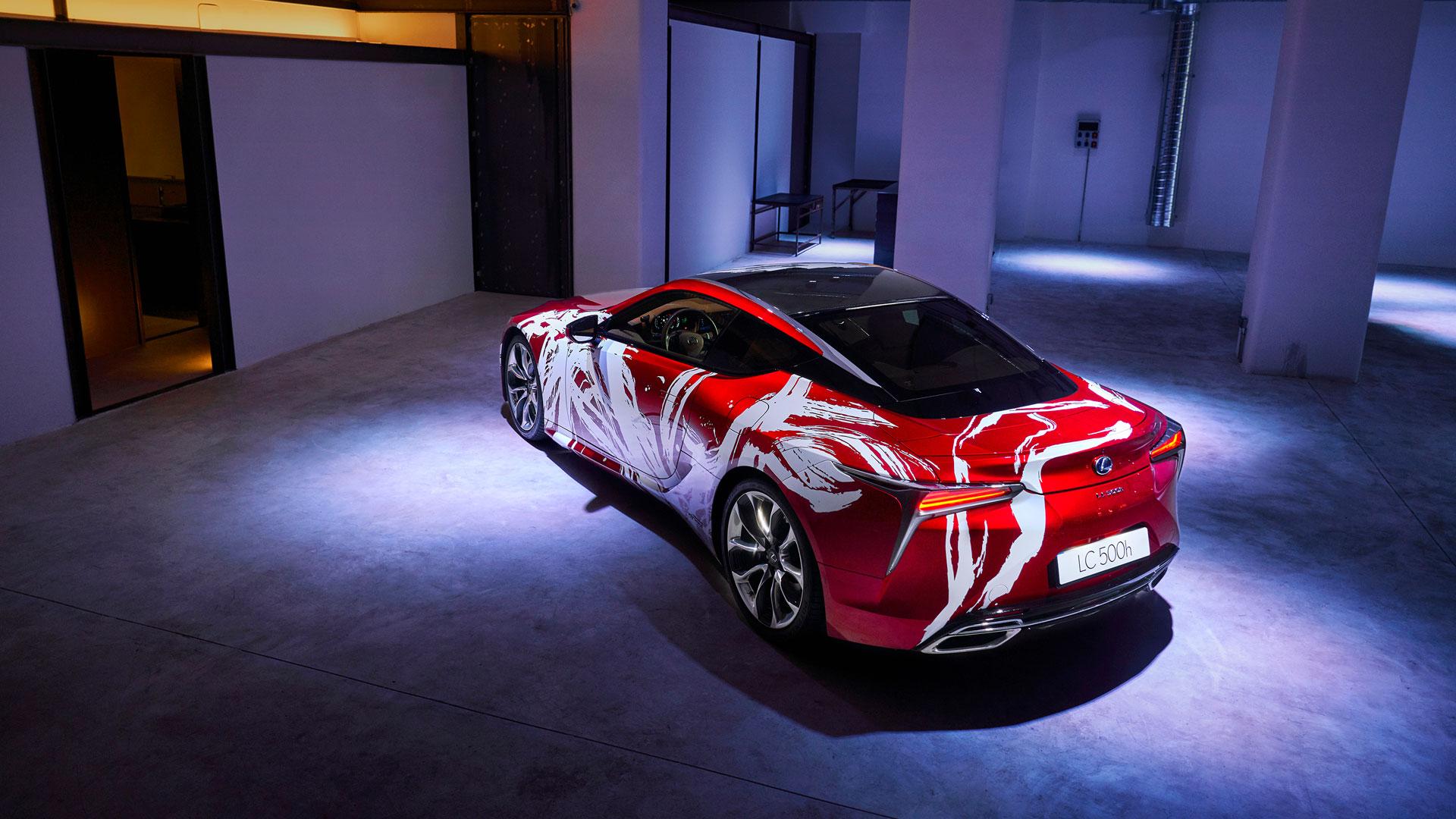 Imagen del diseño ganador del Art Car LC 500h