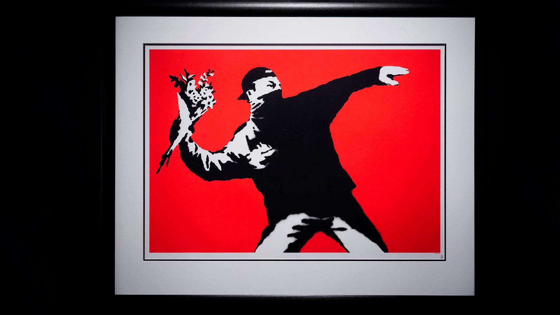 Imagen de la exposición de Banksy en Madrid