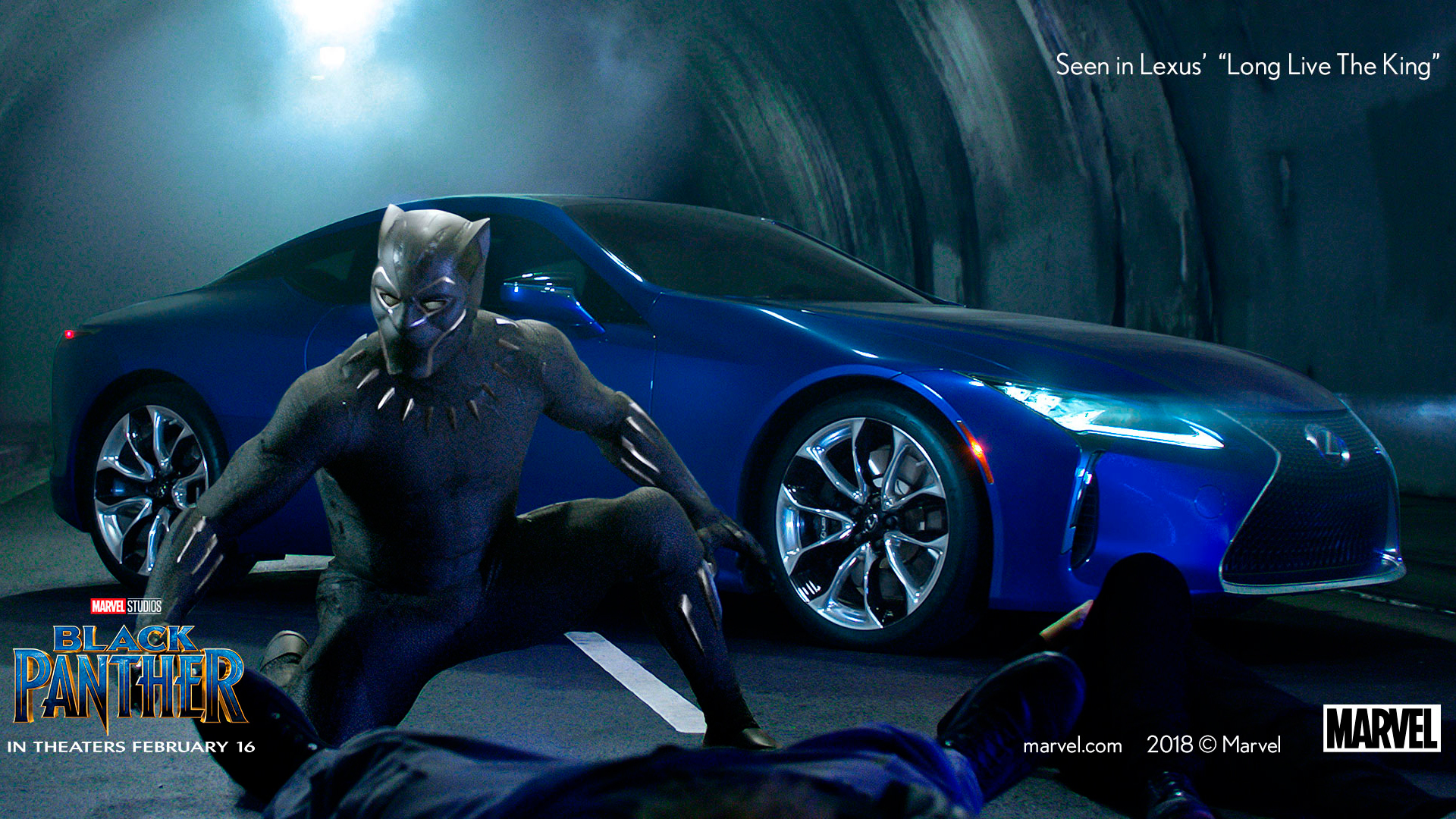 El LC 500 y Black Panther hero asset