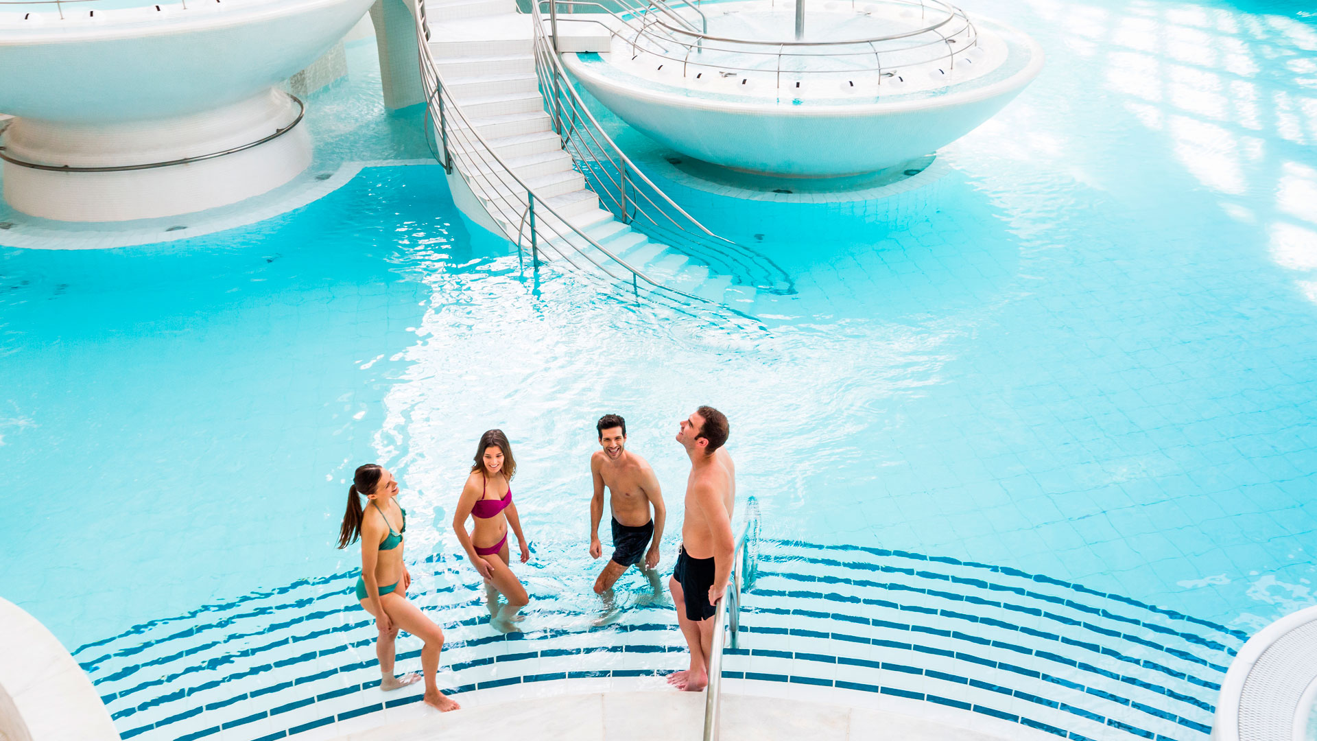Imagen de las instalaciones del spa andorrano Caldea