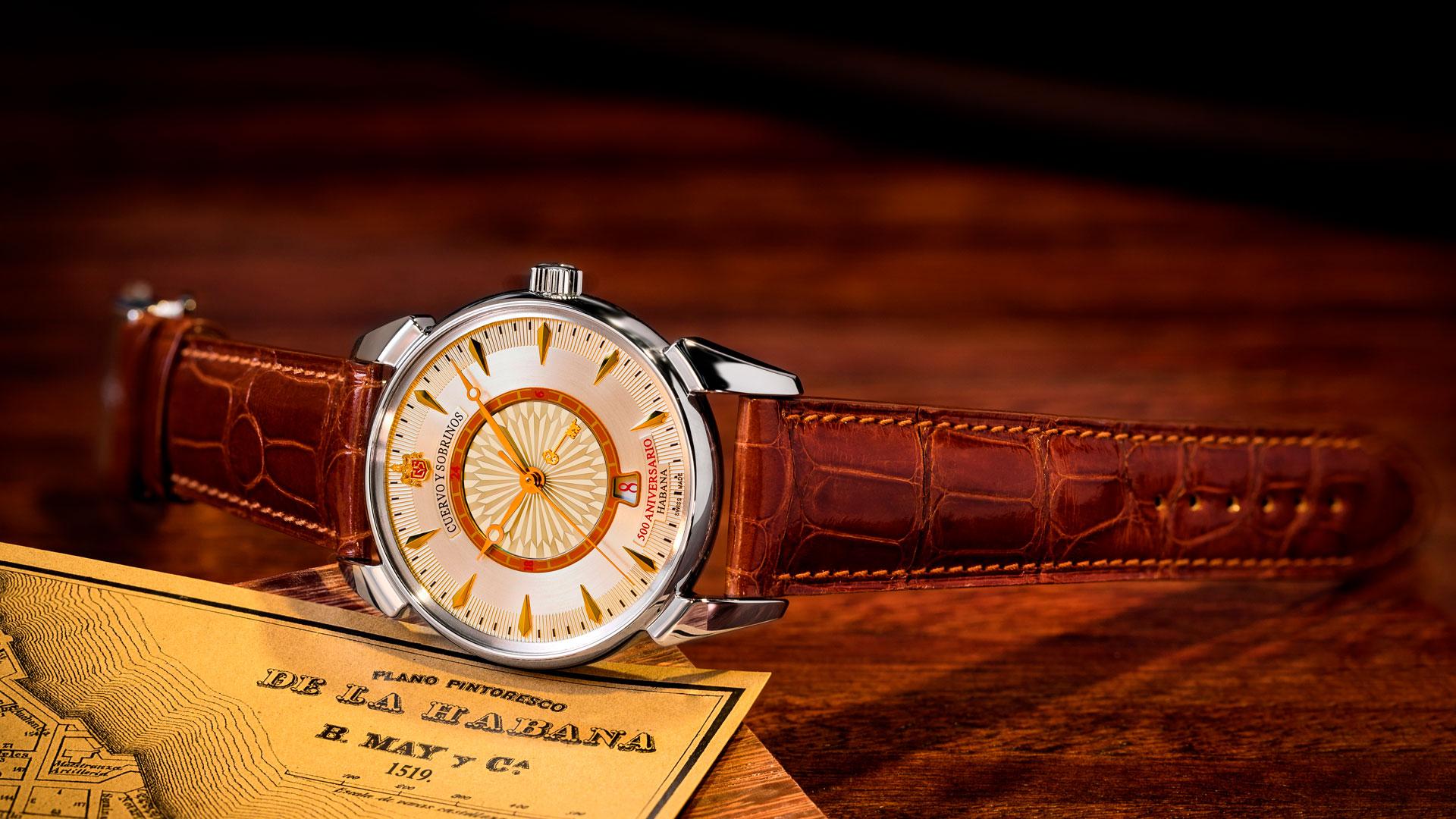 Imagen de los relojes Cuervo y Sobrinos