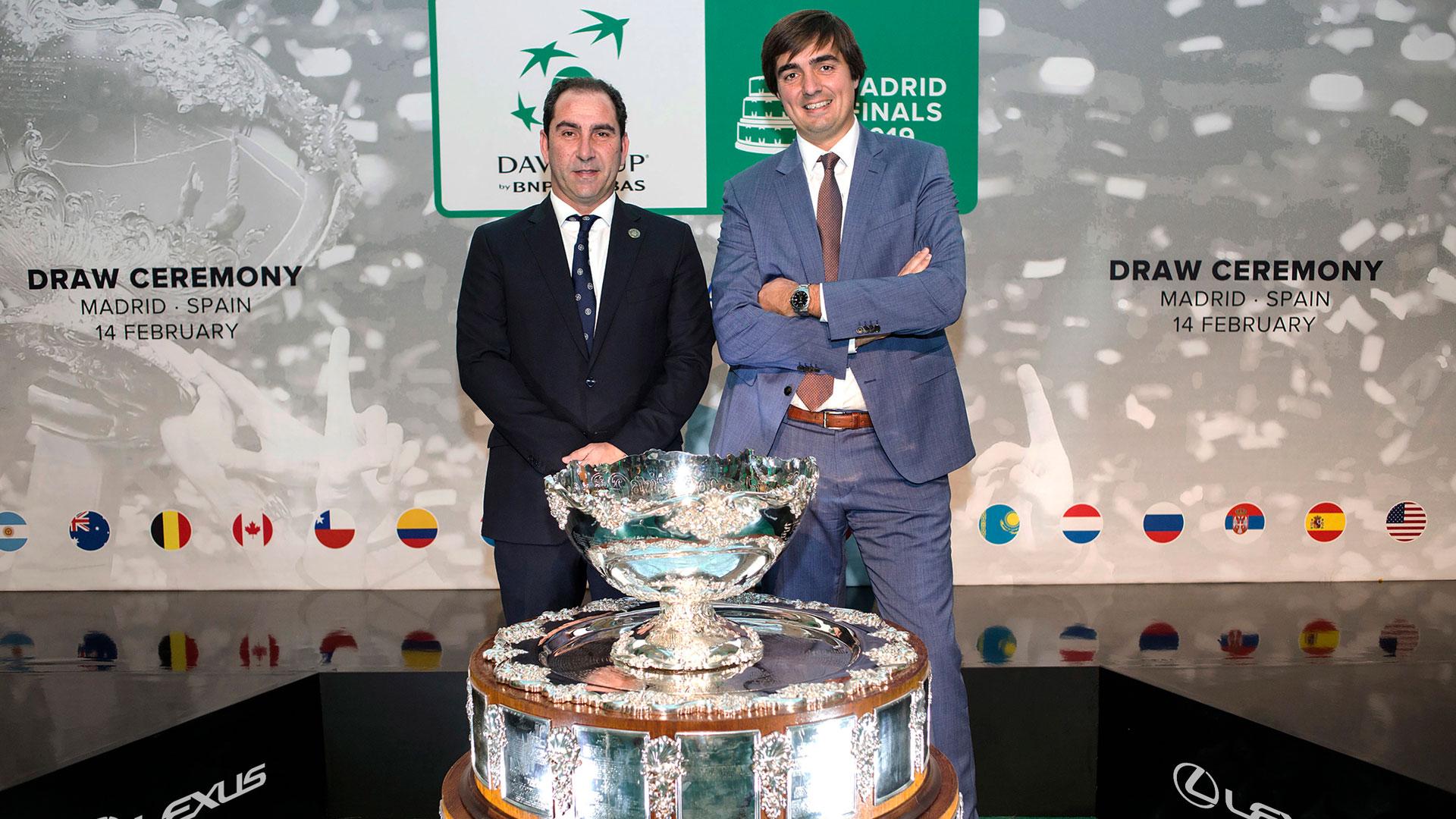 Imagen del evento del sorteo de las Davis Cup Madrid Finals 2019