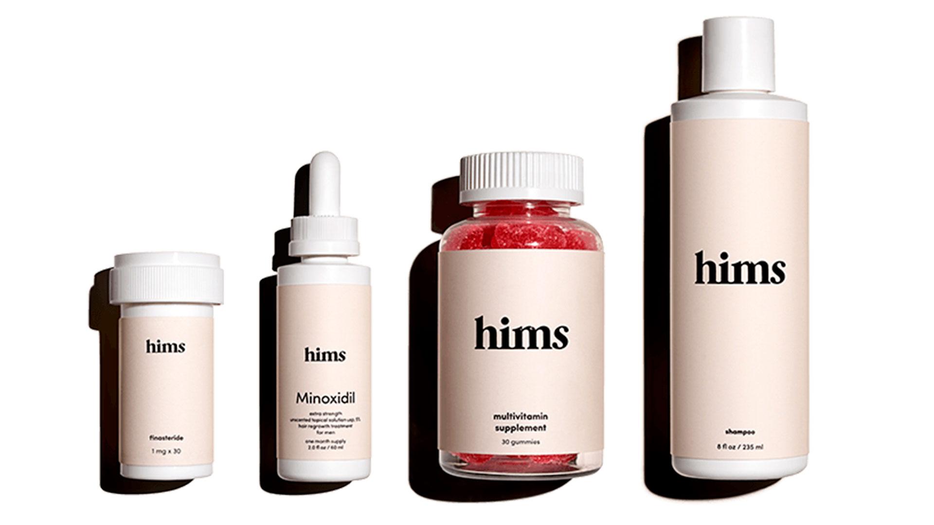 Bodegón de productos de cosmética masculinas Hims