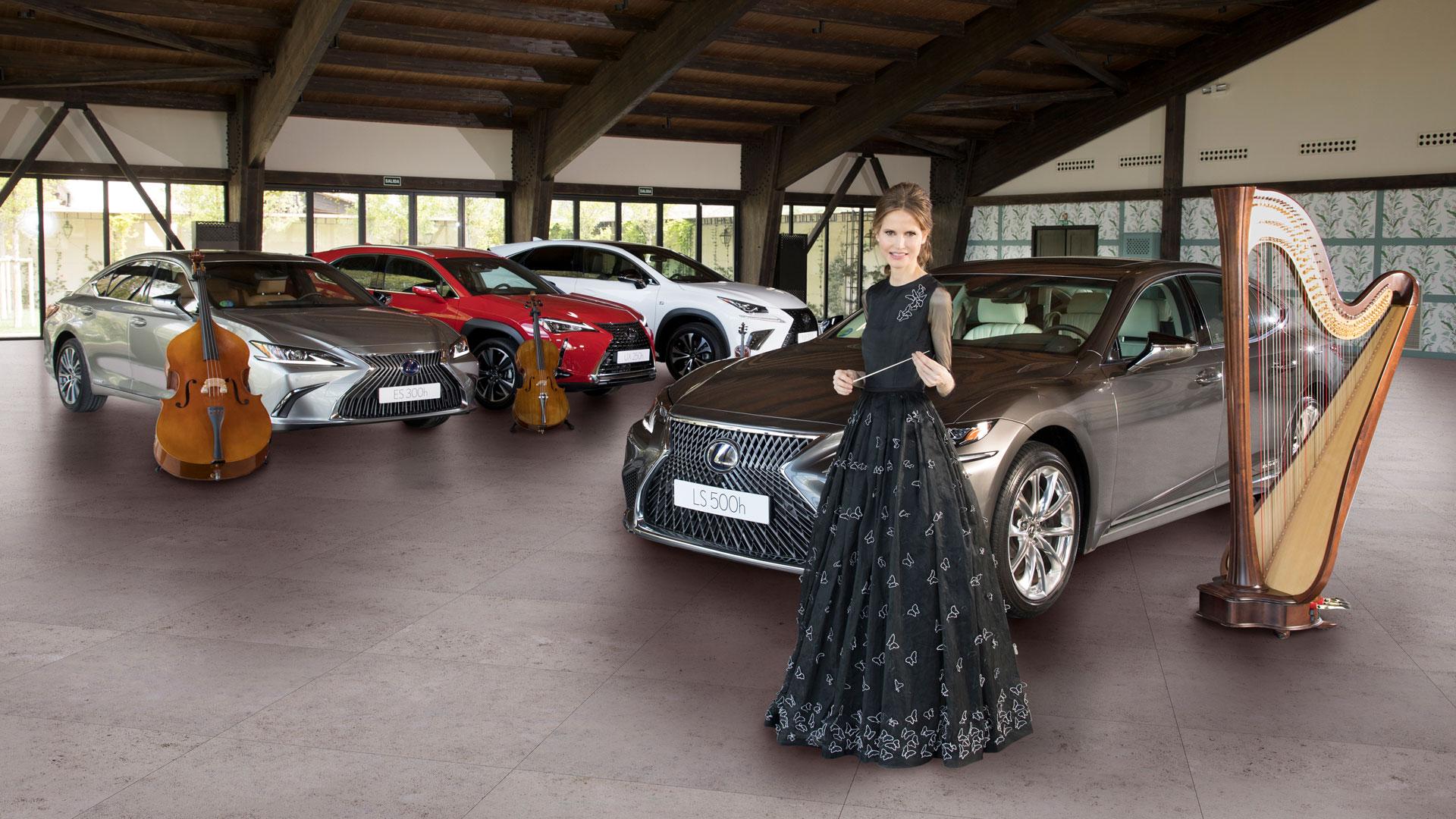 Imagen de Inma Shara y la gama Lexus