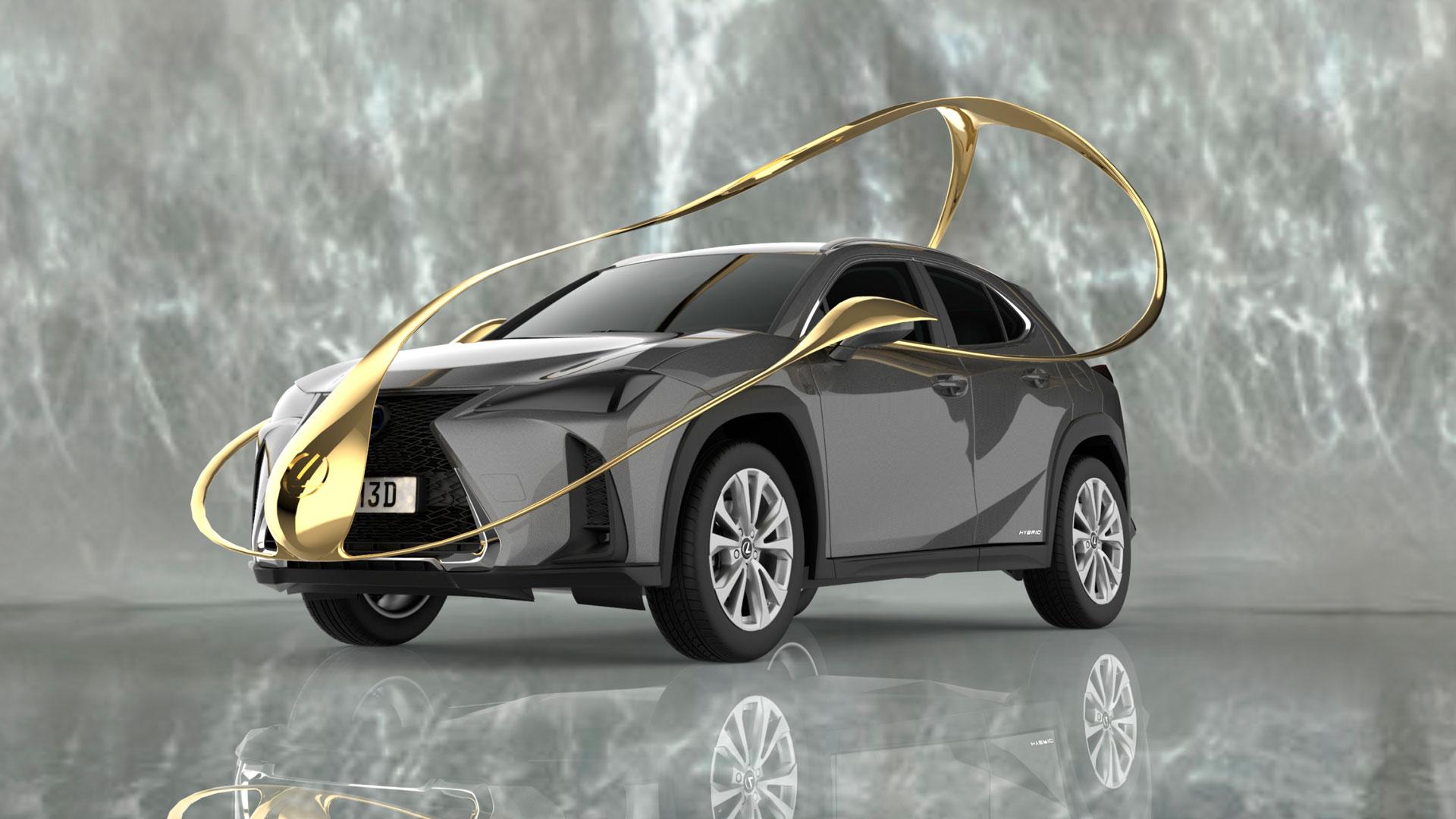 Lexus UX Art Car by Ana Roquero hero asset