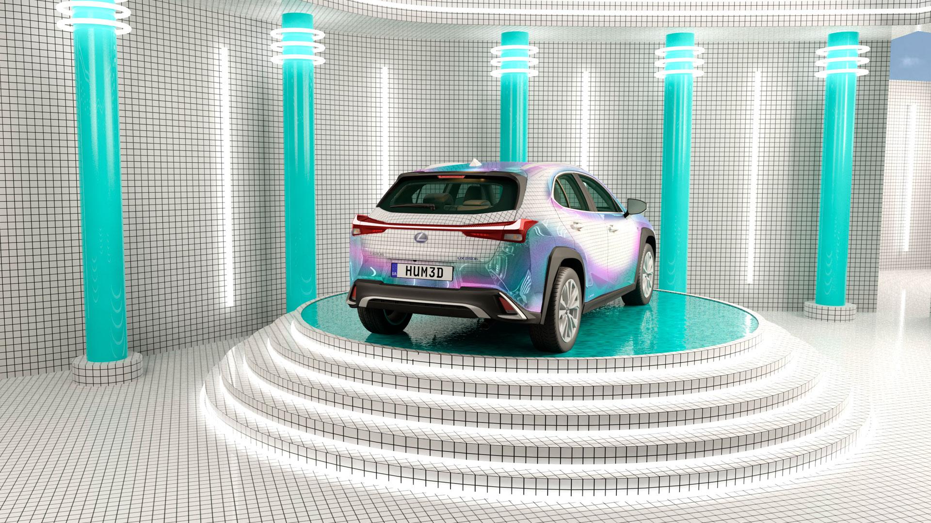 Diseño realizado por Masquespacio para el concurso Lexus UX Art Car