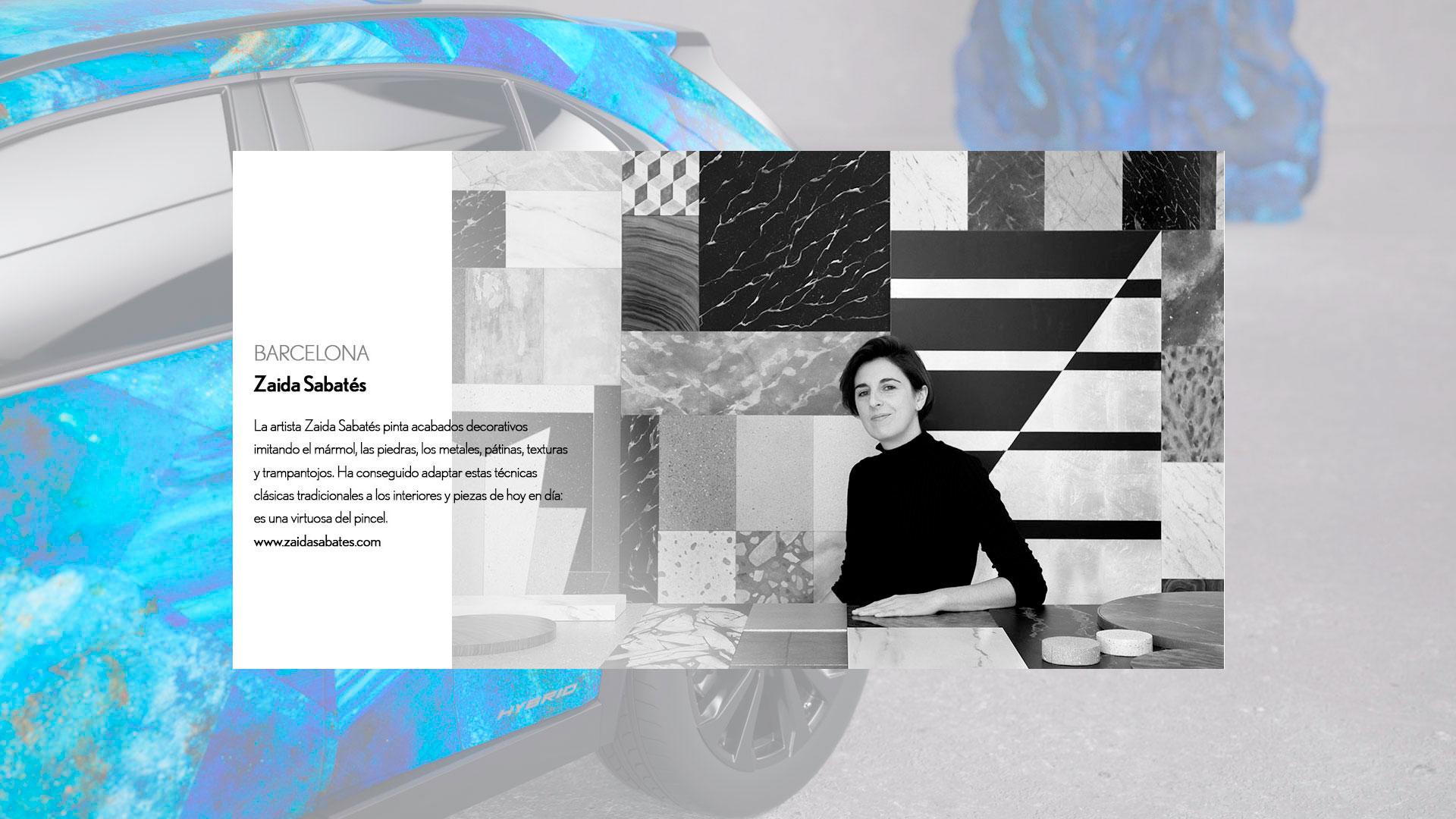 Diseño realizado por Zaida Sabatés para el concurso Lexus UX Art Car