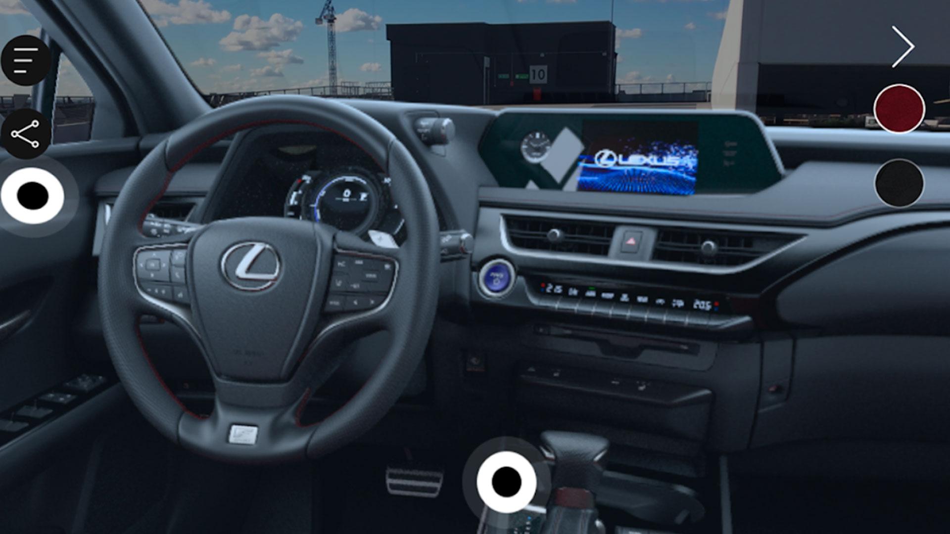 Imagen del Lexus UX en realidad aumentada