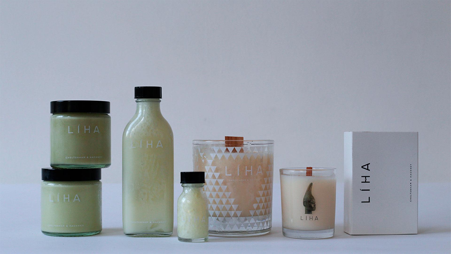 Productos de cosmética orgánica de Liha de Cheltenham Hackney