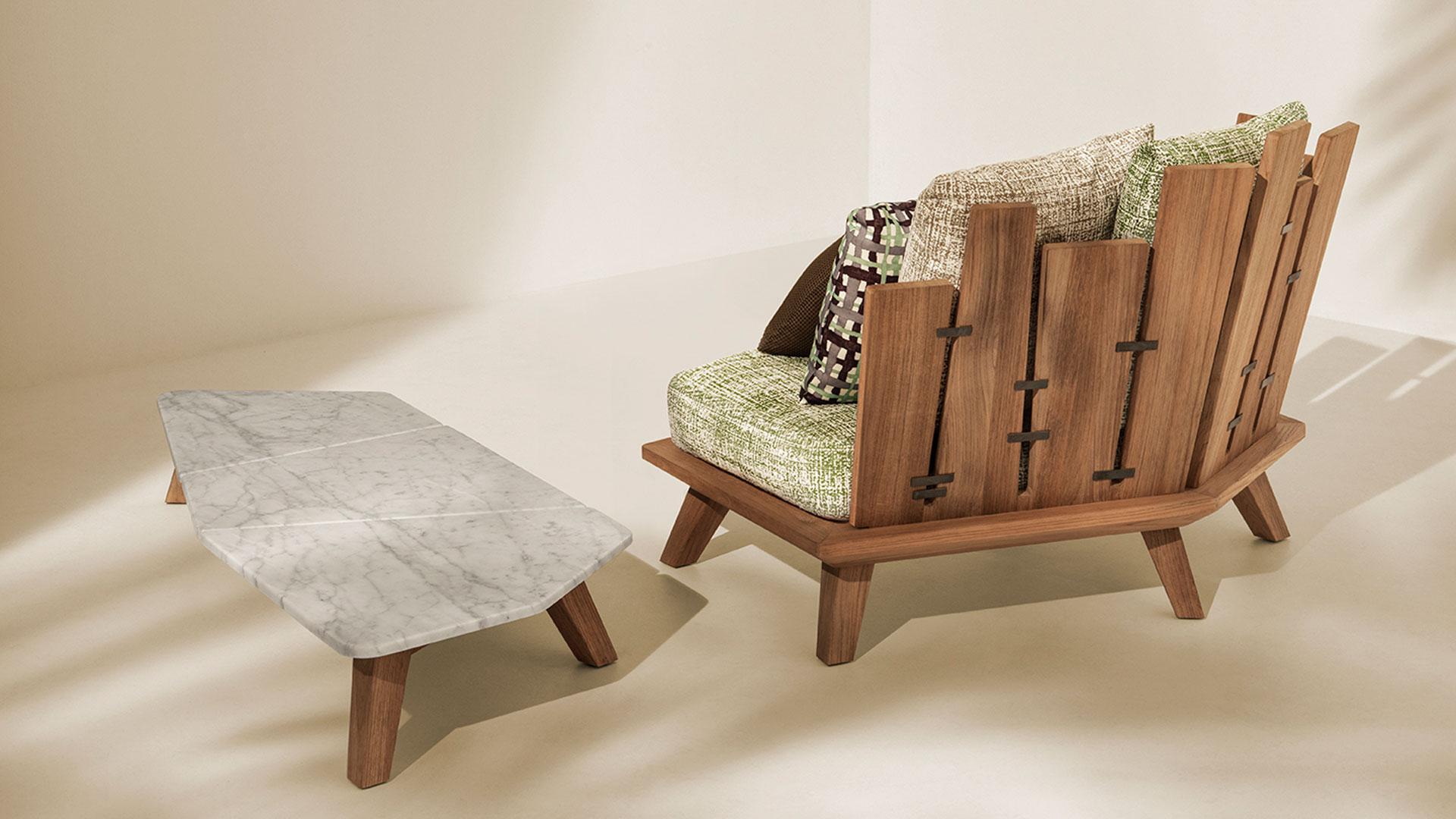Imagen de productos de la colección de Paola Navone para Ethimo