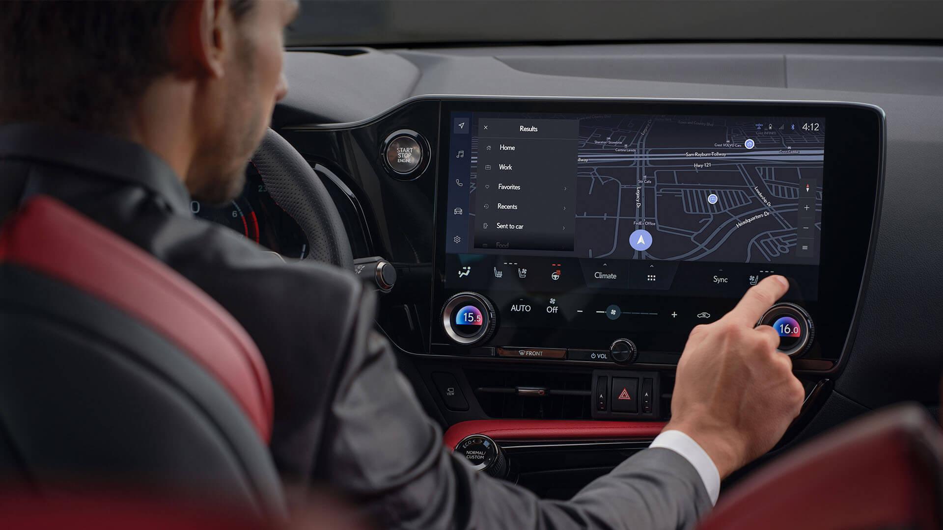 2021 lexus nx experience interior front lexus link multimedia
