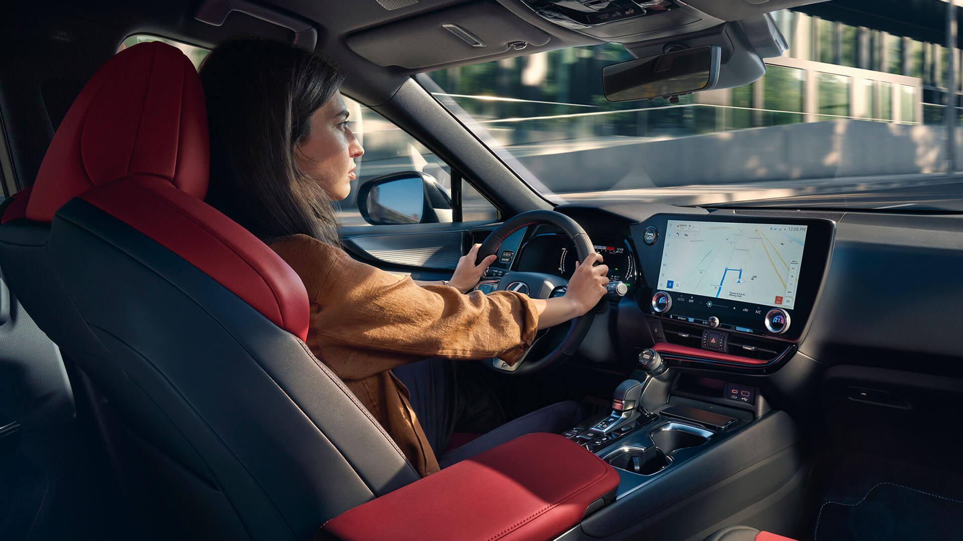 2021 lexus nx experience interior front tazuna cockpit