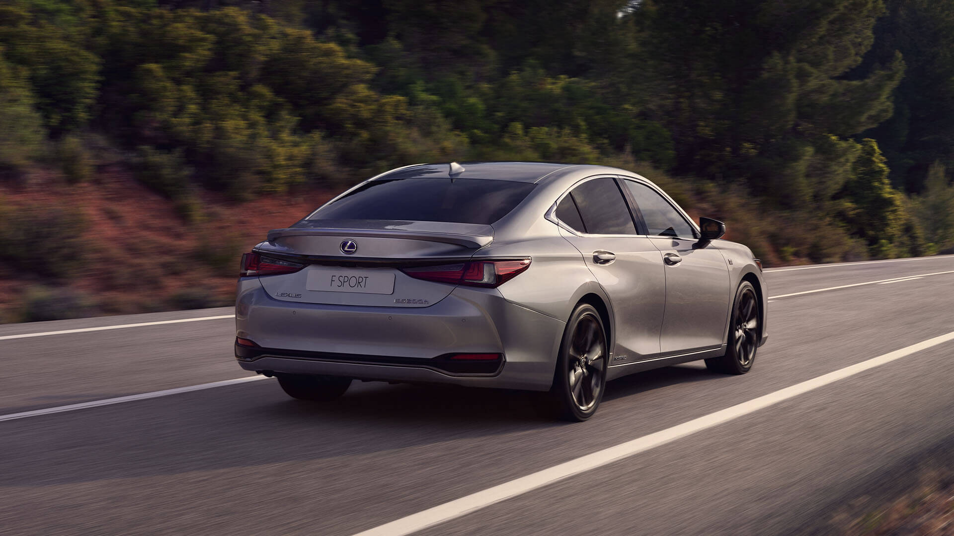 2022 lexus es experience exterior back coupe like silhouette