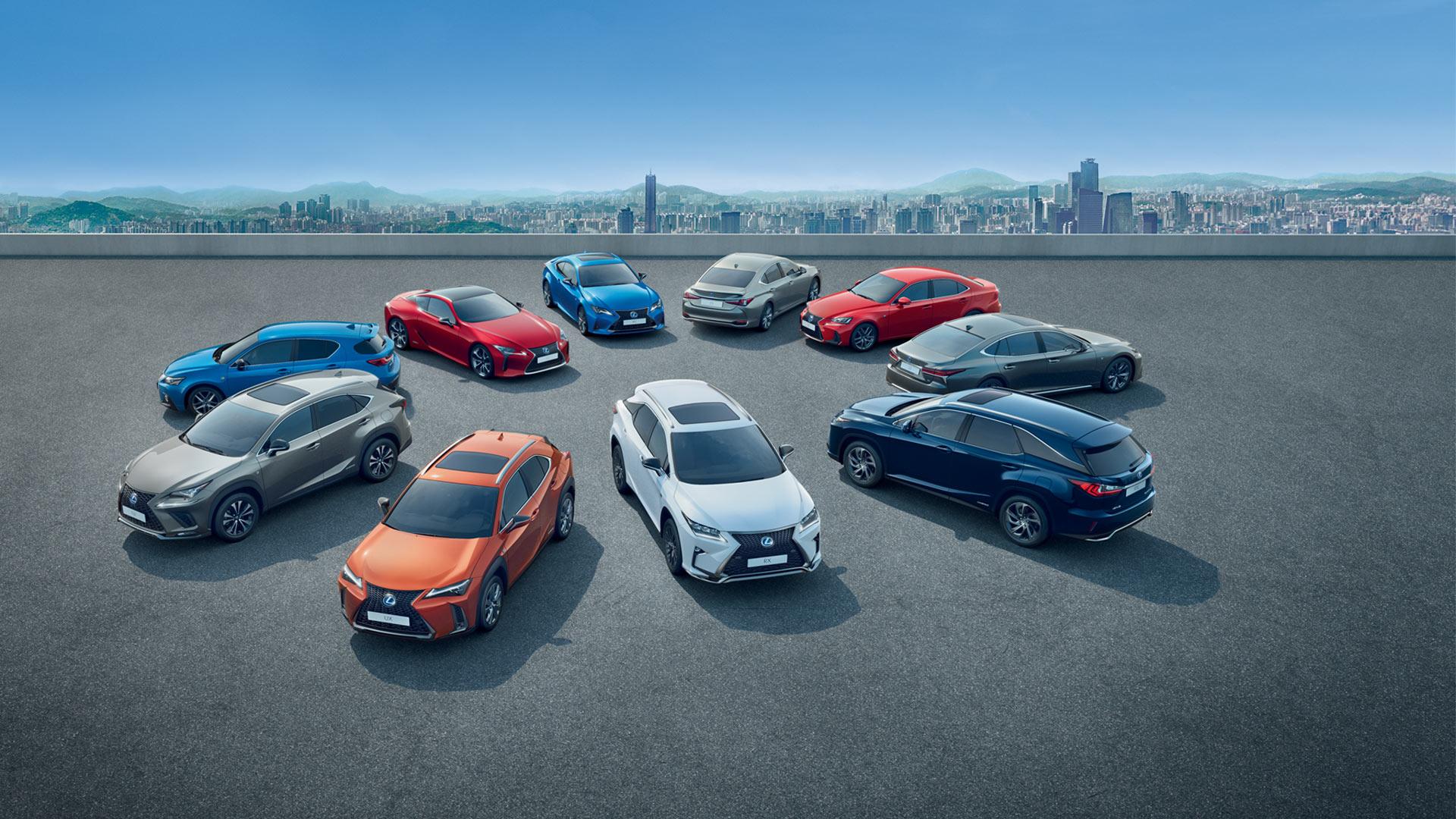 2019 lexus hybrid range