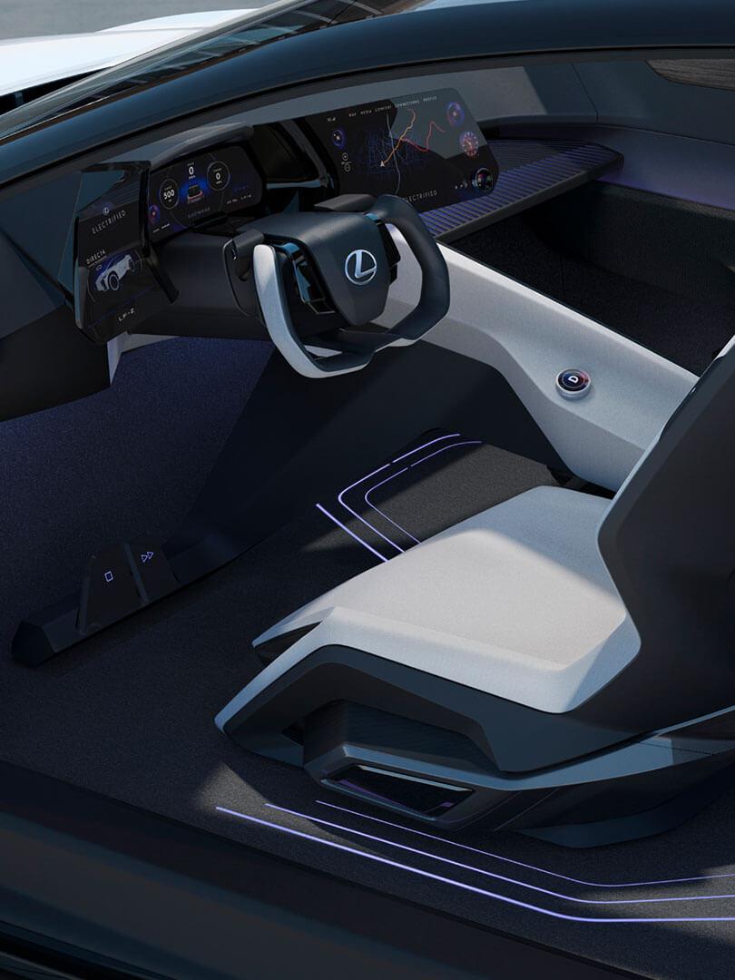 2021 lexus lfz article tazuna cockpit
