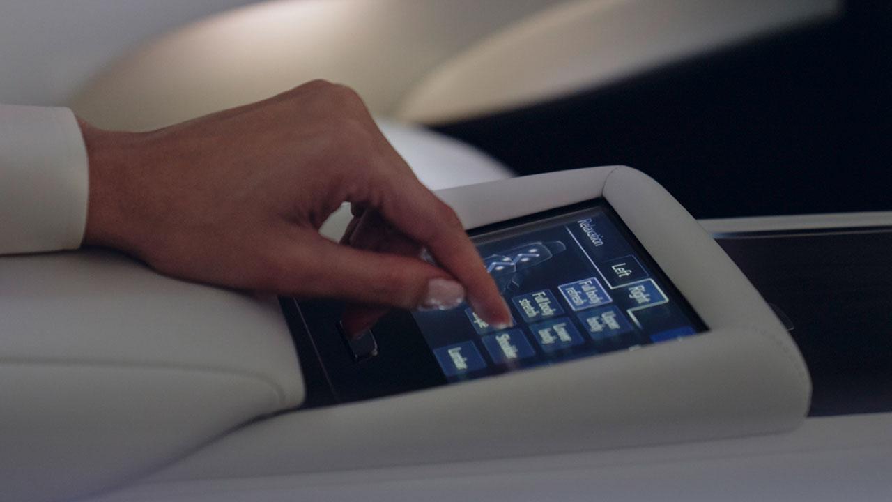 2020 lexus ls experience rear multi operational panel