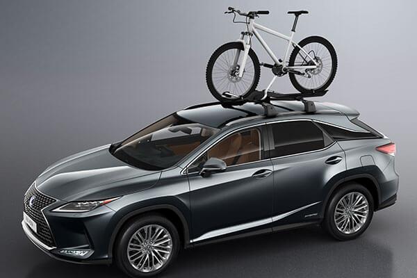 2020 lexus suv rx rxl accessories roof rack bike holder 3x2