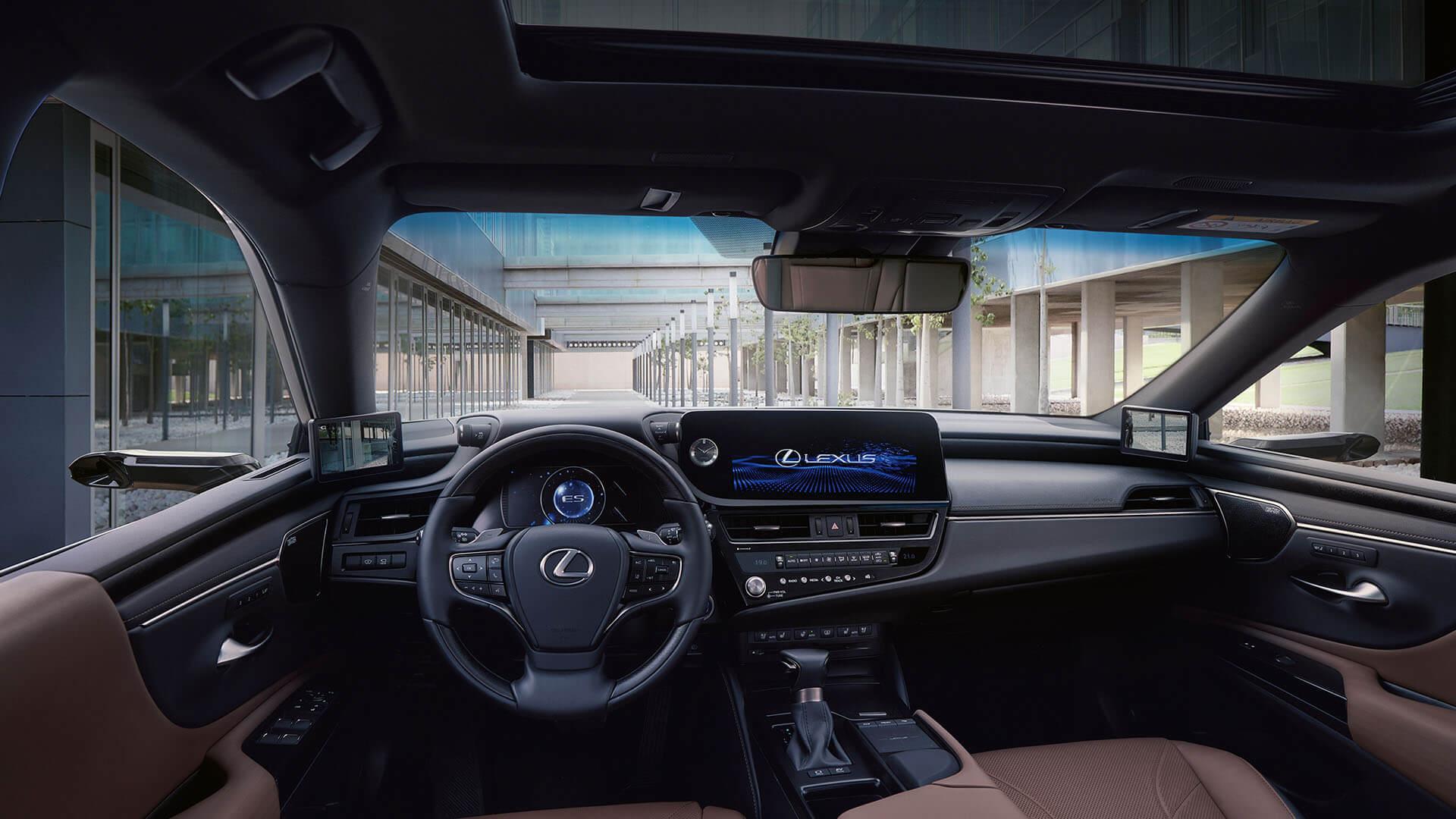 2022 lexus es experience interior front smartphone integration