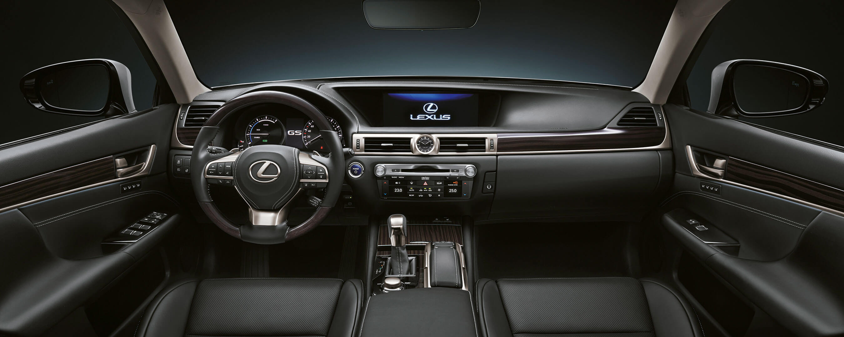 2017 lexus gs 450h experience hero interior front