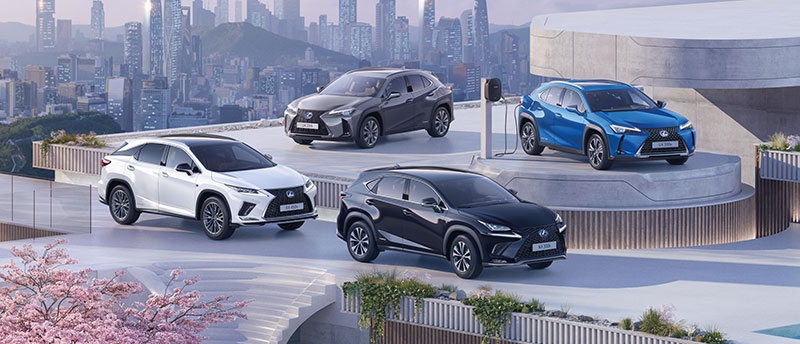 2020 lexus car grid suv