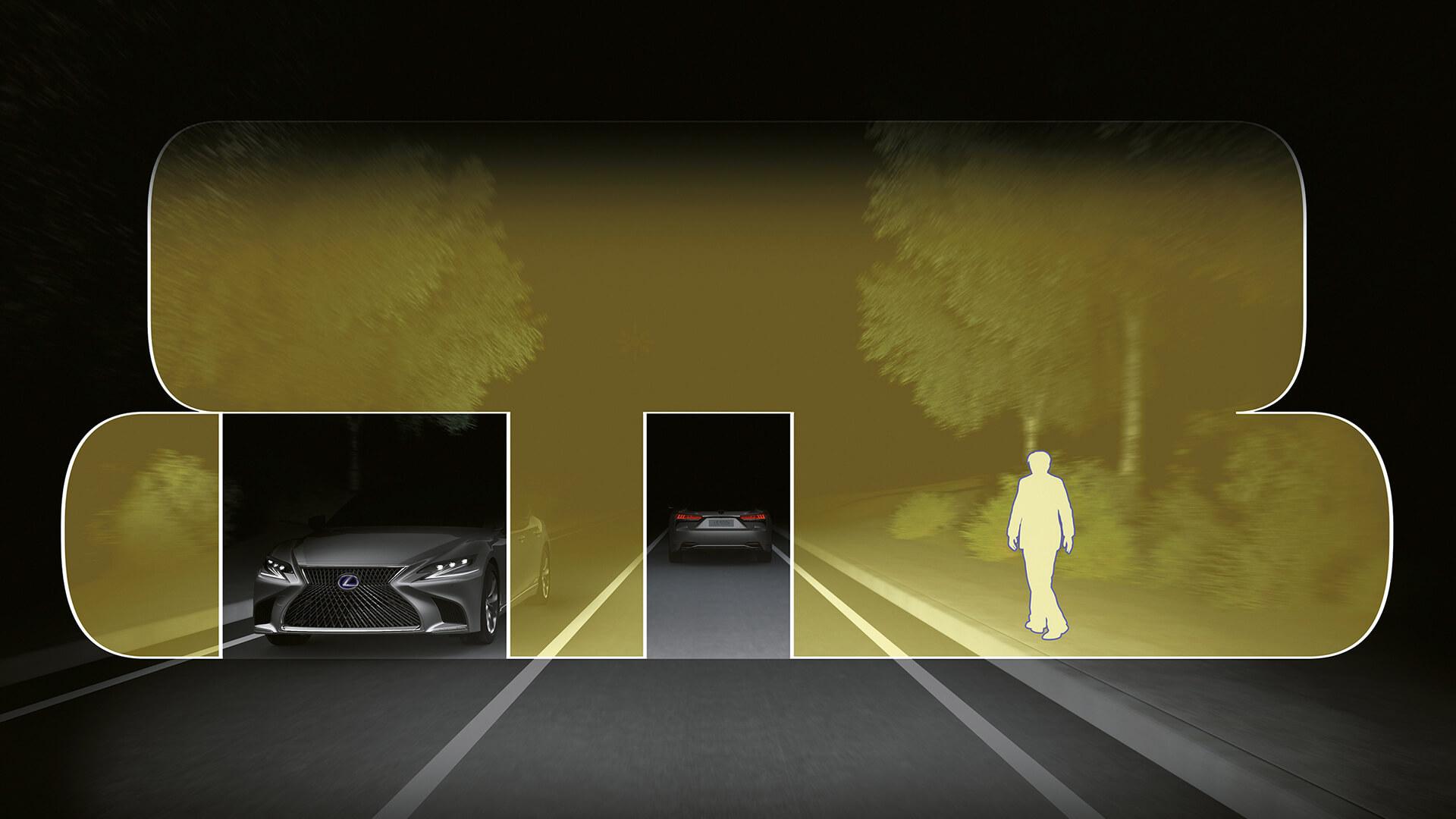 2018 lexus safety adaptive high beam system