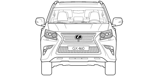 GX Front Dimensions