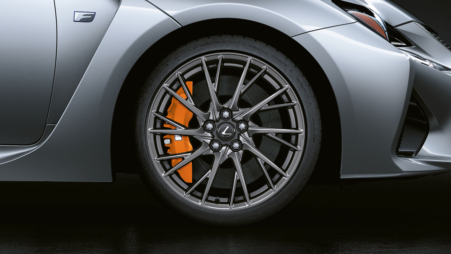 2017 lexus rc f features 19 inch alloy wheels