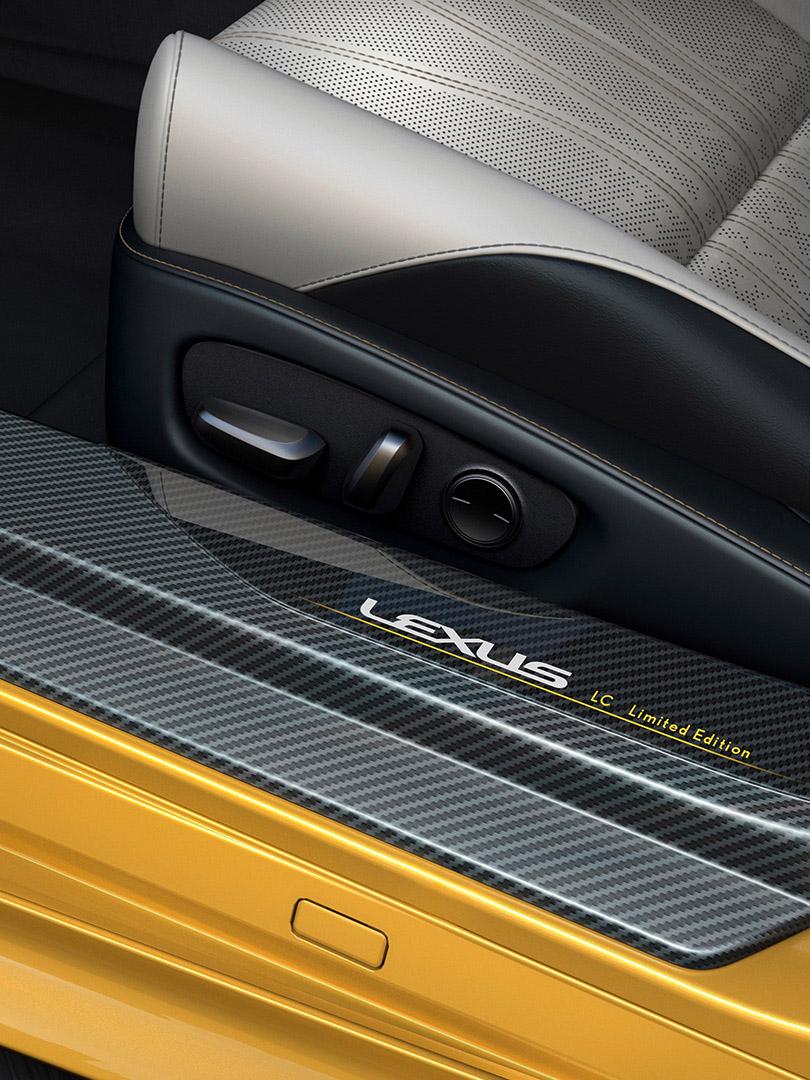 Lexus LC Flare Yellow Edition geeft wow gevoel detail