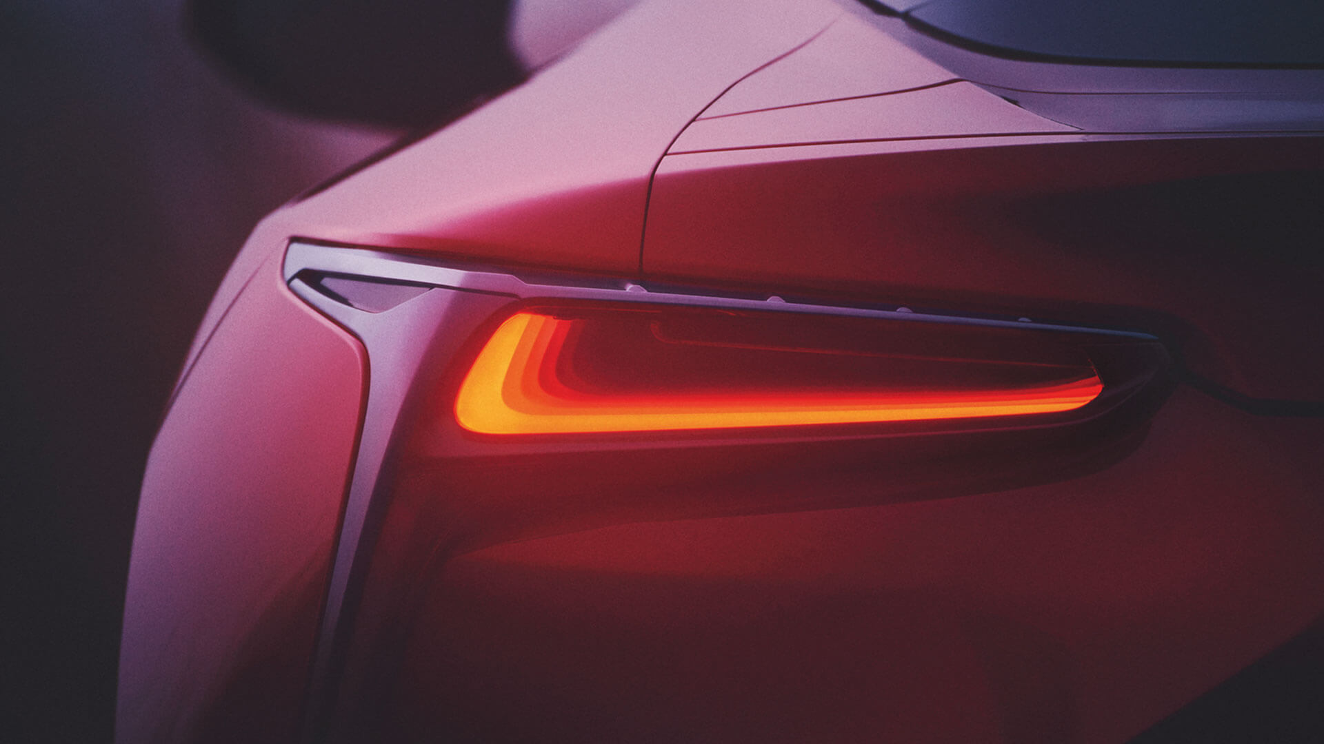 Achterlicht van een Lexus LC 500h