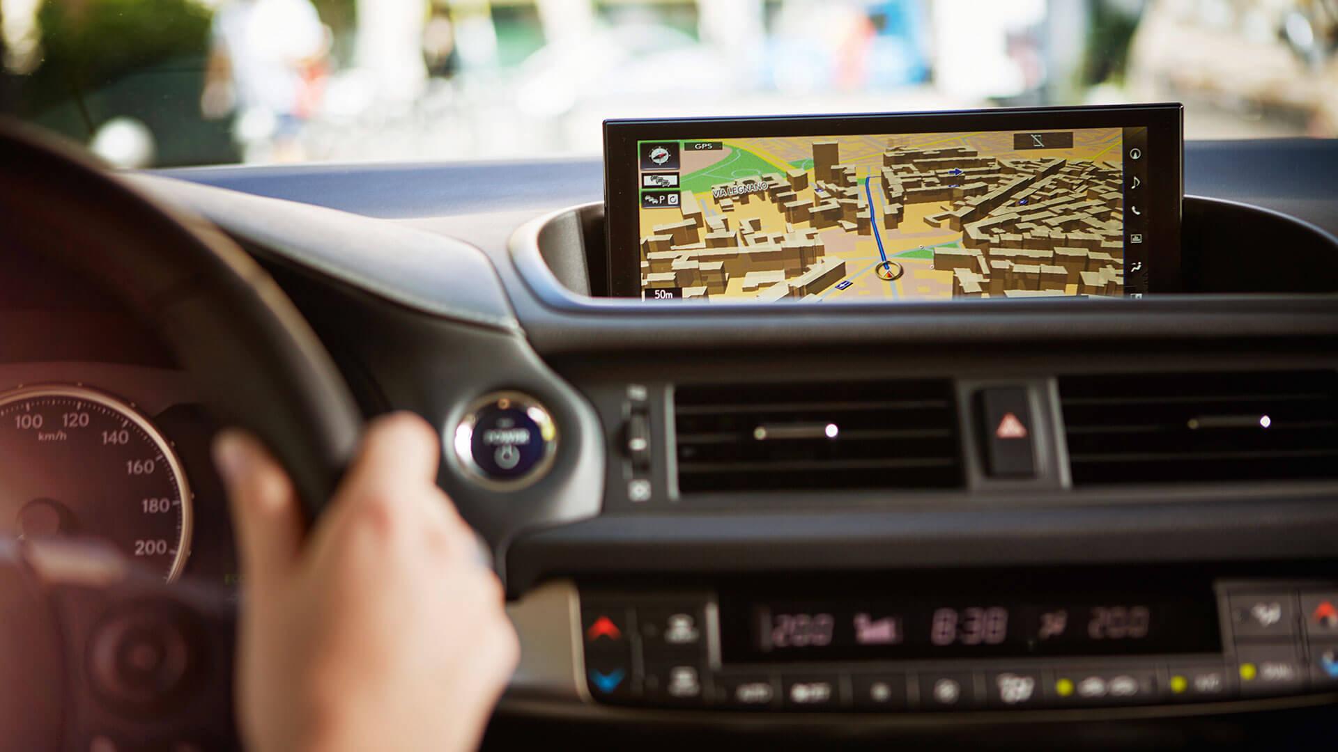 Navigatie van een Lexus CT 200h