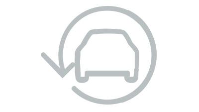 Hybrid logo op een Lexus