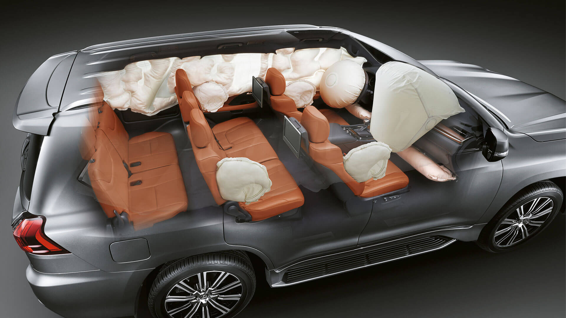 2017 lexus lx 570 features airbags