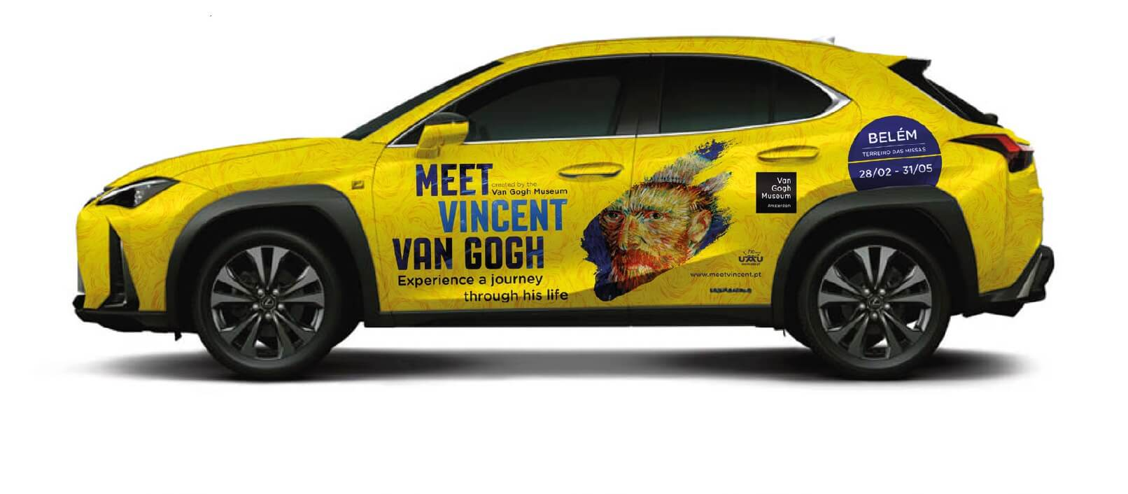 Van Gogh a bordo da lexus