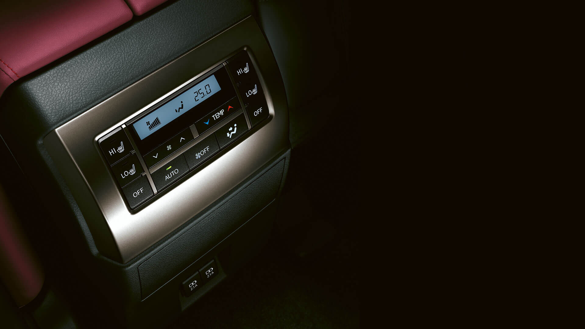 2019 lexus gx hotspot rear climate panel