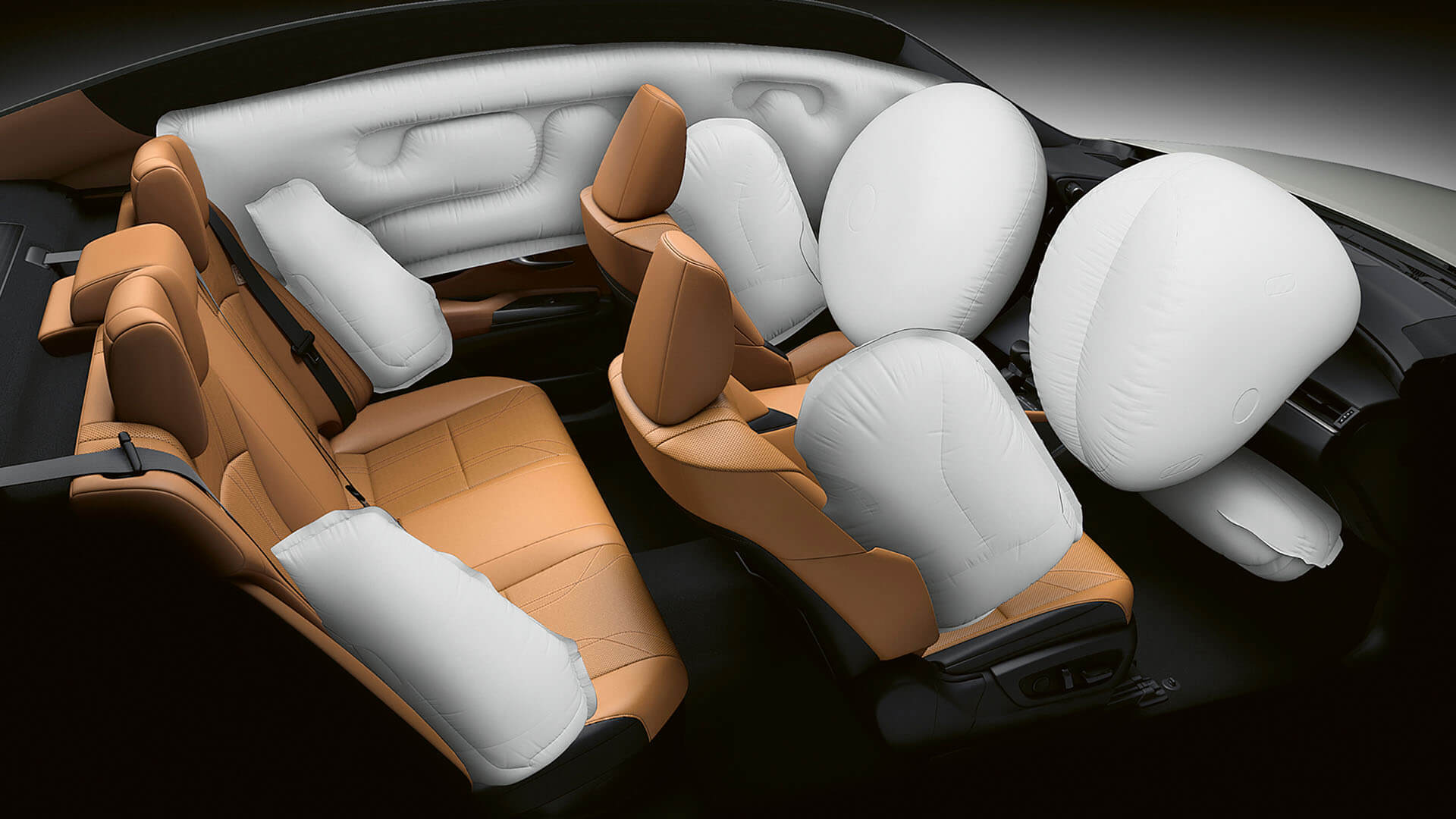 2022 lexus es experience interior back rear airbags