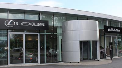 Lexus Stockholm Norr entrance