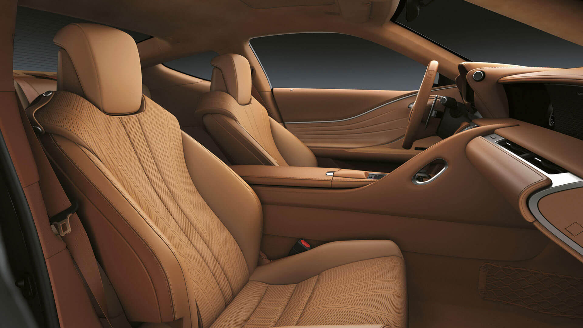 2017 lexus lc 500h features leather seats