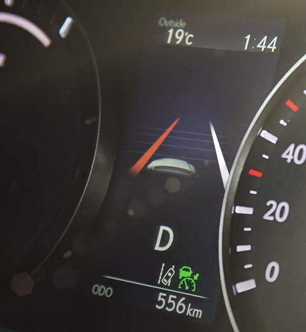 Lexus-RX-lüks-SUV-hibrit-otomobil-güvenlik-sistemi-gösterge
